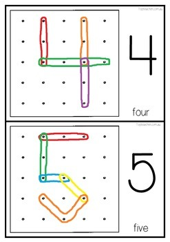 Geoboard Number Templates