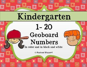 Geoboard Numbers 1-20