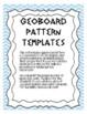 Geoboard Pattern Templates