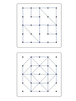 Geoboard Patterns 5x5 *Large Version*