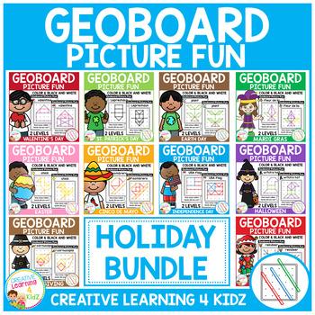 Geoboard Picture Fun: Holiday Bundle