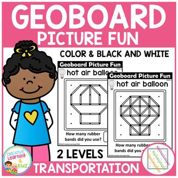 Geoboard Picture Fun: Transportation