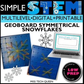Winter STEM Challenge - Geoboard Snowflakes