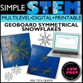 Winter STEM Activities Geoboard Snowflakes Symmetry