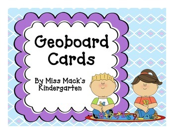Geoboard Shape, Number, and Picture Cards