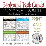 Geoboard Task Card Seasonal Bundle: Fall, Winter, Spring, Summer