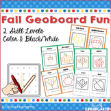 Geoboard Task Cards for Fall