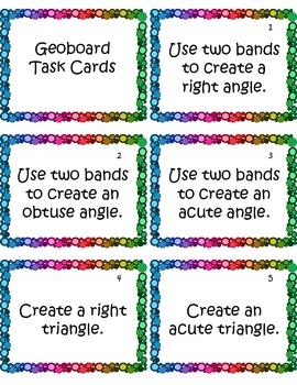 Geoboard Task Cards
