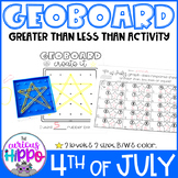 Greater than less than activity for 4th of July