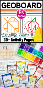 Geoboard Task Cards & Activity Mats: Fall / Autumn