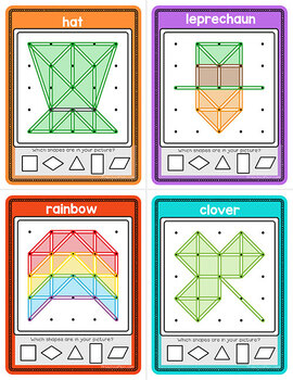 Geoboard Task Cards & Activity Mats: St. Patrick's Day