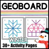 Geoboard Task Cards & Activity Mats: Winter