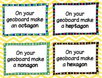Geoboard Task Cards Common Core Aligned Grades 1-5