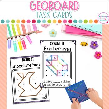 Geoboard Task Cards- Easter Images