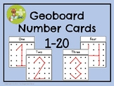 Geoboard Task Cards - Numbers 1-20