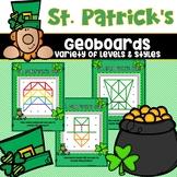 Geoboard Task Cards St. Patrick's Day