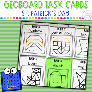 Geoboard Task Cards St. Patrick's Day Images
