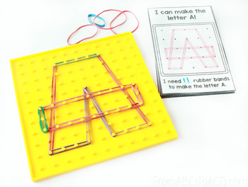 Geoboard Task Cards - Uppercase Alphabet
