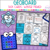 Geoboard Task Cards- Winter Images