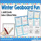 Geoboard Task Cards for Winter