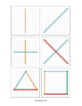 Geoboard Template for 11 pins