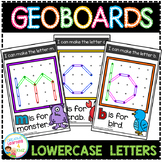 Geoboard Templates: Alphabet Lowercase