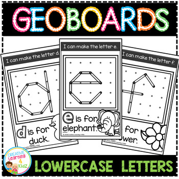 Geoboard Templates: Alphabet Lowercase