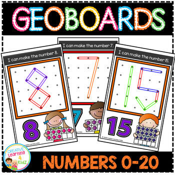 Geoboard Templates: Numbers 0-20