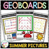 Geoboard Templates: Summer Pictures