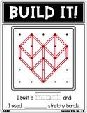 Geoboard Valentines Day Holiday Task Card Work It Build It