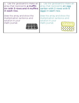 Geoboard Word Problem Cards
