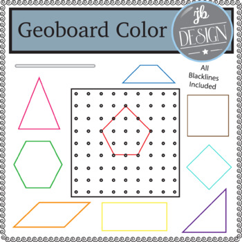 Geoboard and Shapes Colors (JB Design Clip Art for Personal or Commercial Use)