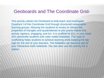 Geoboard and The Coordinate Grid Activity
