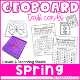 Geoboard spring task cards - Addition & Subtraction