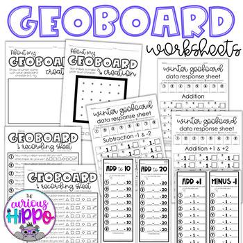 Geoboard winter task cards