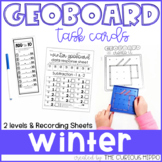 Geoboard winter task cards - Addition & Subtraction