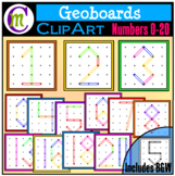 Geoboards Clipart Numbers 0-20