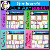 Geoboards Clipart Letters Numbers Shapes BUNDLE