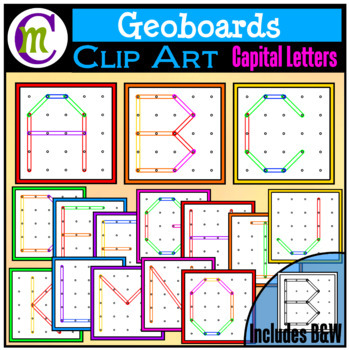 Geoboards Clipart Capital Letters