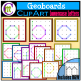 Geoboards Clipart Lowercase Letters