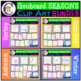 Geoboards Clipart SEASONS BUNDLE