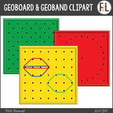 Geoboards & Geoband Shapes {Clipart}
