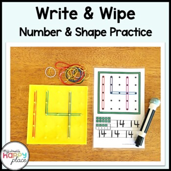 Geoboards Numbers and Shapes Task Cards