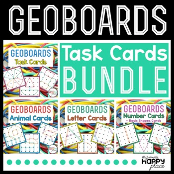 Geoboards Task Cards Bundle