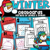 Geoboards Task Cards Winter