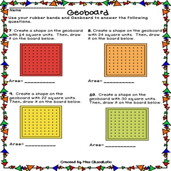 Interactive Geoboards- Color and B&W
