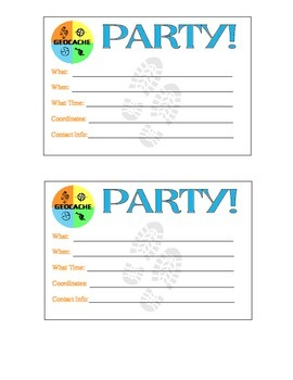 photo about Printable Geocache Log named Geocache Get together Printables Geocaching