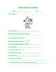 Geocaching Adventure Worksheet