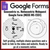 Geocentric vs. Heliocentric Model of the universe Webquest Google Form MS-ESS1
