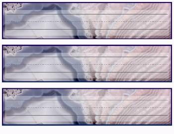 Geode Warm Pink Cursive and Plain Desk Tags